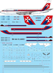 1/144 Scale Decal Air Malta Boeing 720B