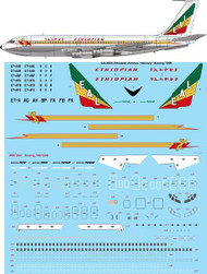 "1/144 Scale Decal Ethiopian Airlines ""delivery"" Boeing 720B"