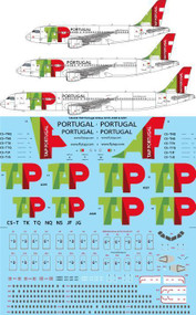 1/144 Scale Decal TAP Portugal Airbus A319, A320 & A321