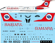 1/144 Scale Decal Samara Airlines Tupolev TU-134A-3