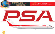1/144 Scale Decal PSA DC9-30