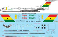 1/144 Scale Decal Ghana Airways Final Vickers VC10