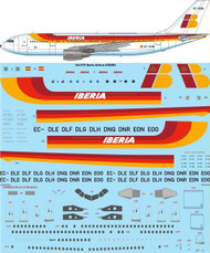 1/144 Scale Decal Iberia Airbus A300B4