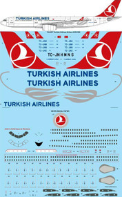 1/144 Scale Decal Turkish Airlines Airbus A330-300