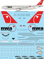 1/144 Scale Decal Northwest Airlines Airbus A330-32
