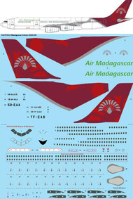 1/144 Scale Decal Air Madagascar Airbus A340-300
