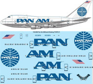 1/144 Scale Decal Pan Am Billboard Boeing 747SP-21