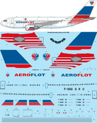 1/144 Scale Decal Aeroflot Delivery Airbus A310-308