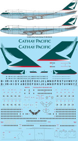 1/144 Scale Decal Cathay Pacific Boeing 747-200,300,400