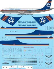 1/144 Scale Decal Ontario Worldair Boeing 707-338C