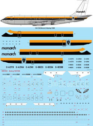 1/144 Scale Decal Monarch Boeing 720B
