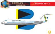 1/144 Scale Decal Bahamasair BAC-111