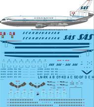 1/144 Scale Decal SAS McDonnell Douglas DC-10-30