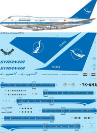 1/144 Scale Decal Syrian Air Boeing 747SP-9