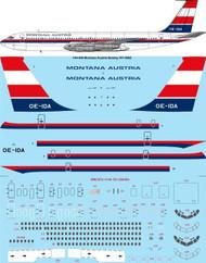 1/144 Scale Decal Montana Austria Boeing 707-396C