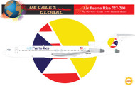 1/144 Scale Decal Air Puerto Rico 727-200