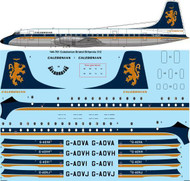 1/144 Scale Decal Caledonian Airways Bristol Britannia 312
