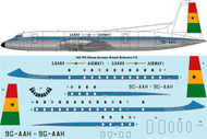 1/144 Scale Decal Ghana Airways Bristol Britannia 312
