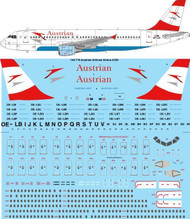1/144 Scale Decal Austrian Airlines Airbus A320