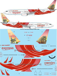 1/144 Scale Decal Air India Express Boeing 737-800 VT-AXW