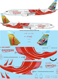 1/144 Scale Decal Air India Express Boeing 737-800 VT-AXZ