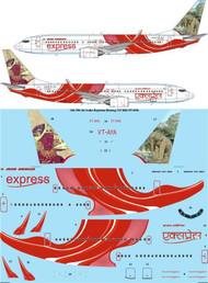 1/144 Scale Decal Air India Express Boeing 737-800 VT-AYA
