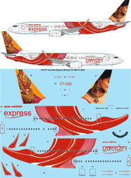 1/144 Scale Decal Air India Express Boeing 737-800 VT-AXG