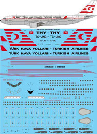 1/144 Scale Decal THY Turkish Airlines Retro Airbus A330-205