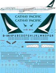 1/144 Scale Decal Cathay Pacific 2015 Boeing 777-367ER