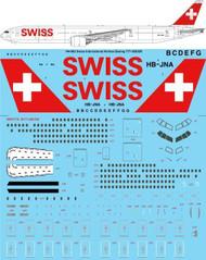 1/144 Scale Decal Swiss International Boeing 777-3DE/ER