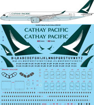 1/144 Scale Decal Cathay Pacific Airbus A350-941