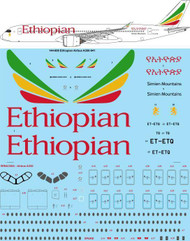 1/144 Scale Decal Ethiopian Airbus A350-941