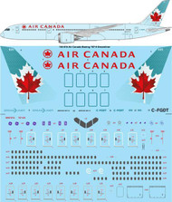 1/144 Scale Decal Air Canada Boeing 787-9