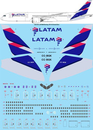 1/144 Scale Decal LATAM Boeing 787-9