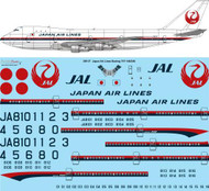 1/200 Scale Decal JAL Japan Airlines Boeing 747-146/246