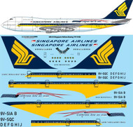 1/200 Scale Decal Singapore Airlines Boeing 747-212B