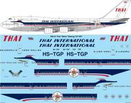 "1/200 Scale Decal Thai International ""Retro"" Boeing 747-4D7"