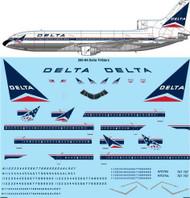 1/200 Scale Decal Delta L-1011 TriStars