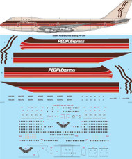 1/200 Scale Decal PeoplExpress Boeing 747-200