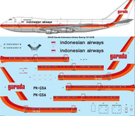 1/200 Scale Decal Garuda Indonesian Airlines Boeing 747-2U3B