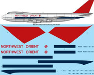 1/200 Scale Decal Northwest Orient Boeing 747-151/251