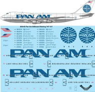 1/200 Scale Decal Pan Am Billboard Boeing 747-121