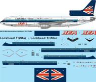 1/200 Scale Decal BEA Demonstrator Lockheed L1011 TriStar