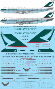 1/200 Scale Decal Cathay Pacific Boeing 747-200,300,400