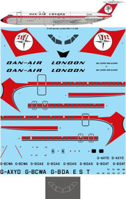 1/72 Scale Decal Dan Air London BAC 1-11-500