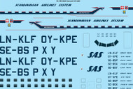 1/72 Scale Decal SAS Convair CV440 Metropolitan