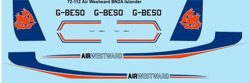 1/72 Scale Decal Air Westward Britten Norman Islander