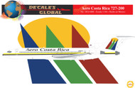 1/144 Scale Decal Aero Costa Rica 727-200