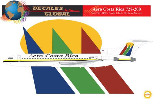 1/144 Scale Decal Aero Costa Rica 727-200