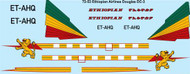 1/72 Scale Decal Ethiopian Airlines Douglas DC-3